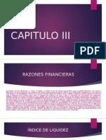 Capitulo III Razones Financieras