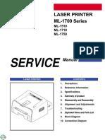 Manual Service Samsung ML-1510_ML-1710_ML-1750_ML-1700 Series