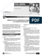 Afiliacion de Los Trabajadores Independientes a Un Sitema Pensionario