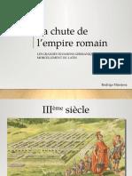 1.4 La Chute de l'Empire Romain