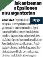 Gabeziak atzeman dituzte Epsilonen diru laguntzetan (Berria 2016/01/15)