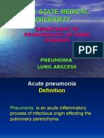 Pneumonia & Lung Abscess
