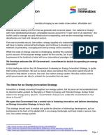 Scottish Renewables briefing on innovation