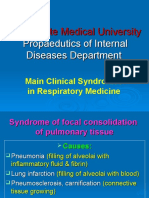 Main Clinical Syndromes in Respiratory System
