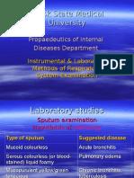 Istrumental & Laboratory Methods of Respiratory System Examination