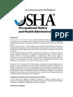 Norma de Comunicación de Peligros by OSHA