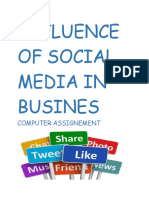 Influence of Social Media in Business