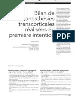 Bilan de 500 Anesthésies Transcorticales Réalisées en Première Intention Rev Mens Suisse Odonto Stom