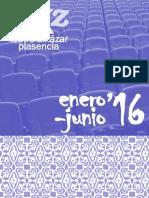 Folleto Teatro Alkazar Enero-junio 2016