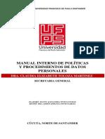 Manual Interno de Politicas y Procedimientos de Datos Personales 2014