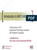 Ivanova Matlab