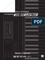 Psr e353 Owner's Manual