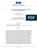 L 3-2015 Reguladora Del Alto Cargo de La AGE