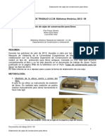 Elaboración de cajas de conservación para libros