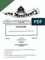 Décret créant le Centre financier international de l'île de La Gonâve
