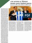 La Fiscalía No Acusa a Alonso Por San Antonio Pero Habrá Juicio (El Mundo) 16.02.2016