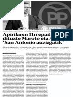 Apirilaren 11n Epaituko Dituzte Maroto Eta Alonso, San Antonio Auziagatik BERRIA 2016.02.16