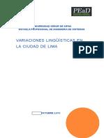 Variacion Linguistica en Lima