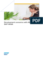 Development Scenarios With ABAP and SAP HANA