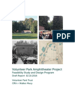 Volunteer Park Amphitheater Project Feasibility Study and Design Program Draft Report
