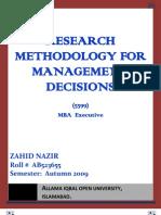 Semester III Assgn Business Research Methodology