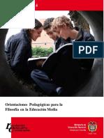 Orientaciones Pedagogicas Filosofia en Educacion Media