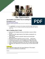 38Engage - Be Optimistic