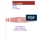 La Gametogenese Cours
