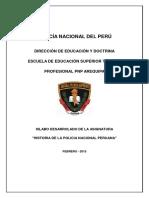 Silabo - Historia de La Policía Nacional Peruana