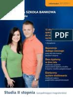 Informator 2010 - Studia II stopnia - Wyższa Szkoła Bankowa w Poznaniu
