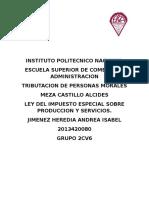 Ley Del Impuesto Especial Sobre Produccion y Servicios