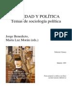 Sociedad y política. Jorge Benedicto.