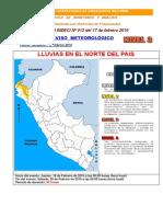 Boletín Aviso Meteorológico - InDECI Nº 013 Del 17-02-2016