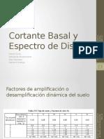 Cortante Basal y Espectro de Diseño