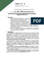 Directiva Nº 051-Toma de Invent. 2015