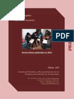 Boletín Publicaciones 2015