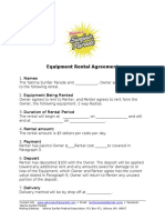 sunfair equipment rental agreement