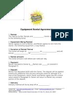 sunfair equipment rental agreement