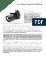 Il sistema vero e provato per Canon Prodotti in Step by Step Particolare