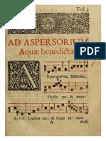 Asperges Beneditino de Coimbra