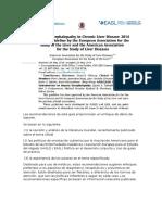 Guia Internacional Encefalopatía Hepática en Enfermedad Hepática Crónica EASL 2014