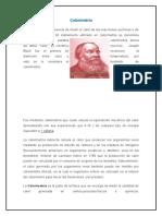Investigacion de Quimica II - Calorimetria