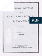A Great Battle in the Ecclesiastical Heavens by J. F. Rutherford, 1915