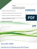 Presentación ISO10000  Gestión de la Satisfacción del Cliente