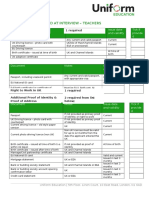 Documents Required Teachers