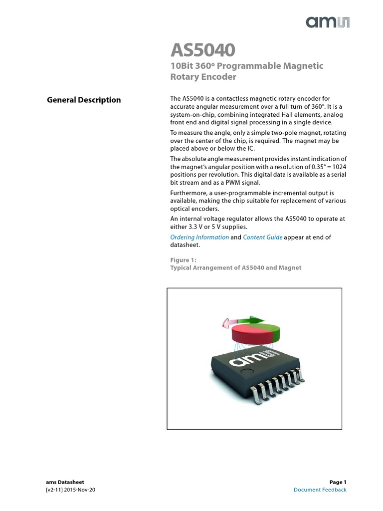 As5040 Capacitor Electrical Engineering Axis Magnetic Field Sensor Application Circuit 555circuit