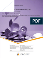 IDFC Nifty Fund Form and Kim