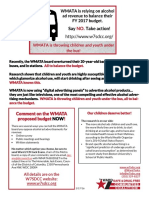 Oppose WMATA alcohol ads in FY 2017 flyer