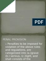 Penal Provision