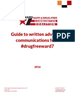 Guide to written advocacy communications for a #drugfreeward7